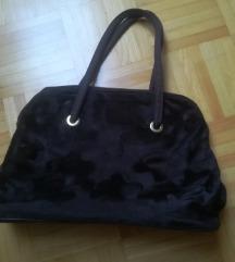 torbica rjava - ena stran umetno krzno