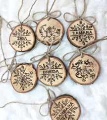Božični okraski iz lesa