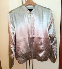 NOVA ženska jakna jopica srebrna XL
