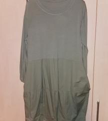 Uni oblekca tunika  vojaško zelena