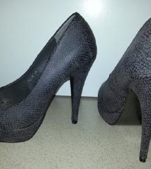 Ženski kača sivi čevlji salonarji 37