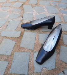 MELLUSO št. 41 pravo usnje črni čevlji (Italija)
