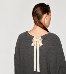 ZNIZAN ZARA siv pulover xs-s
