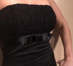 Črna koktejl oblekica