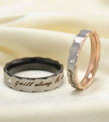 Zaročni, poročni prstan /par