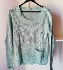 Pastelno moder pulover