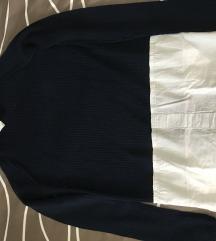 NOV Stradivarius pulovercek s srajcko