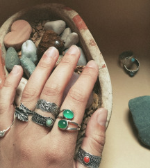 Ročno izdelani filigranski prstani