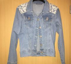 jeans kratka jakna s cipko