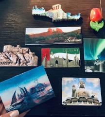 8 magnetov iz različnih držav (s poštnino)