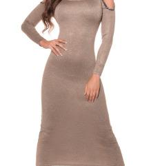 🌹 Pletena obleka dolga elegantna Koucla 🌹