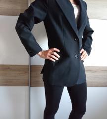 Daljši ženski suknjič, 1x oblečen, črn, S