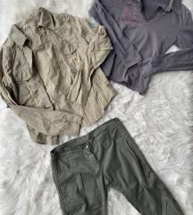Srajca, majica in tričetrt hlače