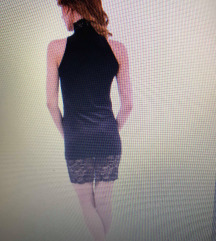 Ćrna obleka z čipko
