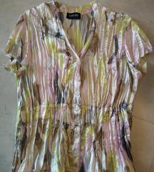 Barvna svetlikajoča bluza v pastelnih barvah