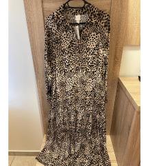 Dolga tigrasta obleka