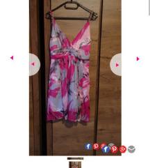Čudovita elegantna roza obleka
