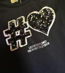 Črna majica z luskami S in M
