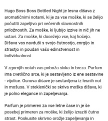 Parfum Hugo boss