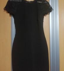 Zara black  dress s cipko