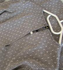 Tunika oblekca srebrn potisk črno-bela