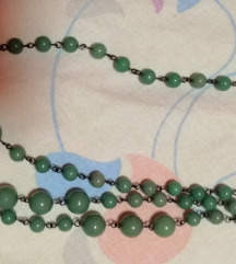 Verižica na zelene perlice