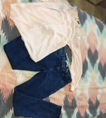 nove jeans hlače + srajca gratis