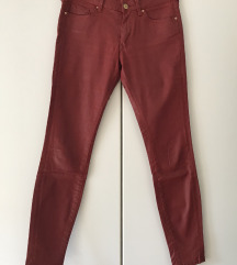 Voskaste bordo hlače Zara 34