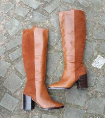 ZARA št. 40 usnjeni škornji