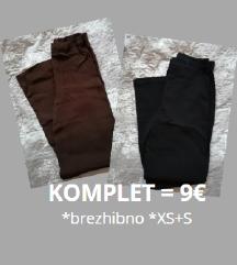 KOMPLET - 2x HLAČE ■tanke ■brezhibne ■št.XS+S