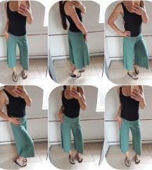 Olivno zelene posebne kapri hlače št. M