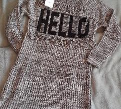 Siv dolg pulover