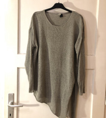 Siv asimetričen pulover