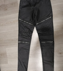 Usnjene hlače z zadrgami
