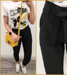 Športno elegantne črne hlače