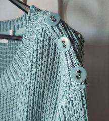 Pleten baby blue pulover
