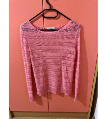 "Roza ""štrikan"" pulover"