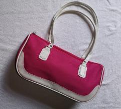 Roza bela usnjena torbica