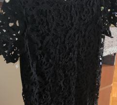 Zara črna čipkasta obleka