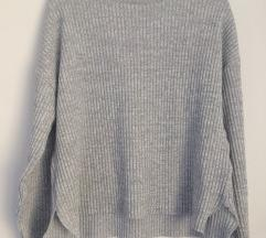 Siv oversize pulover S/M