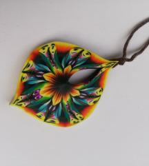 Ogrlica v podbi mandale iz fimo mase