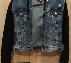 Modna jeans jakna z jopo