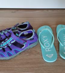 Komplet: Merrell sandali in Roxy japonke št. 34