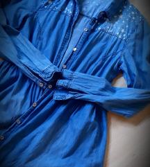Jeans poletna dolga srajčka z zvezdicami