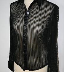 elegantna črna modna  see trough srajica,M
