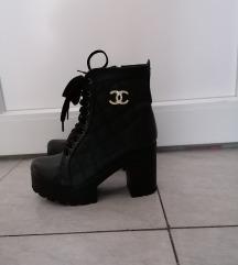 Črni gležnarji replika Chanel
