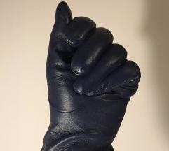 Temno modre usnjene rokavice