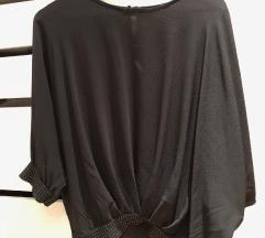 Črna oversize bluza, tunika.