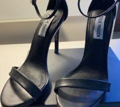 Črni visoki sandali s paščki