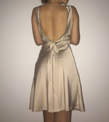 Ročno izdelana svilena obleka
